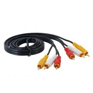 MYE 1,5 м 3RCA к 3RCA кабель (черный)