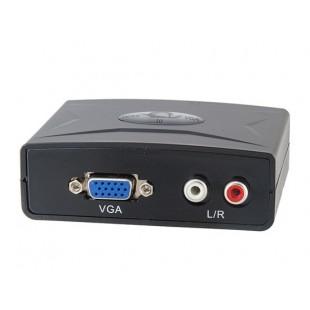 HDMI на VGA конвертер с аудио (черный)