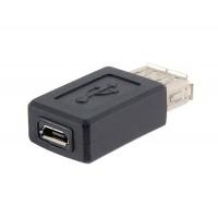 Переходник USB Micro USB (мама-мама)