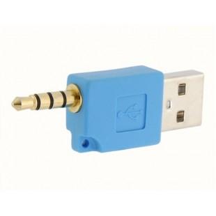 Мужской USB2.0 порта на 3,5 мм Мужской порт адаптера (синий)