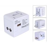148-1 США, ЕС, АС стандарты бизнеса Универсальный адаптер с интерфейсом USB (белый)
