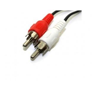 2 RCA штекер 2 RCA Муж AV TV Аудио и видео кабель (черный)