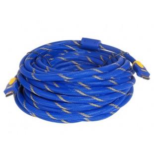 HDMI 1.4 Версия 1080P HD Круглый кабель с поддержкой 3D 15 м (синий)