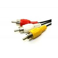1,5 м 3 RCA Мужской до 3 RCA Муж AV TV Аудио и видео кабель (черный)