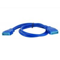 Системная плата USB 3.0 20-контактный разъем для 20-контактный разъем удлинитель (синий)