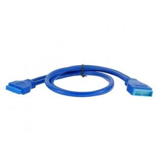 Системная плата USB 3.0 20-контактный разъем для 20-контактного женщин удлинитель (синий)