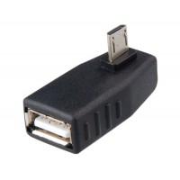 Сторона прямоугольного USB 2.0 Micro-мужчина к-Женский адаптер (черный)