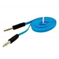 1 м Аудио плоским удлинитель от 3,5 мм Мужской порту до 3,5 мм Мужской порт (синий)