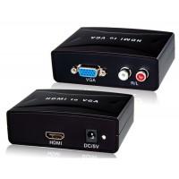 HD Video Converter с аудио для HDMI к VGA (черный)