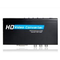 HDV-336A Video Converter для VGA + Component к HDMI 1080P (черный)