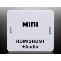 HDV-M612 Mini HD Video Converter для HDMI к HDMI / L + R байпаса (белый)