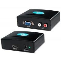 FY1316 VGA для HDMI конвертер с аудио (черный)