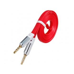 1 м 3,5 мм разъем мужчинами Наушники квартира удлинитель аудио кабеля (красный)