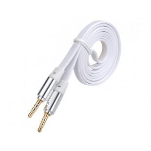 1 м 3,5 мм разъем мужчинами Наушники квартира удлинитель аудио кабеля (белый)