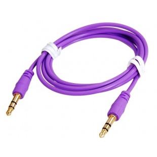 1 м 3,5 мм штекер аудио матовой удлинительный кабель (фиолетовый)