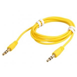 1 м 3,5 мм штекер аудио матовый удлинительный кабель (желтый)