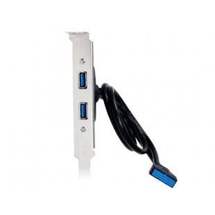 0.5-метр 20-контактный для Dual USB 3.0 адаптер AF задней панели кабель (черный)