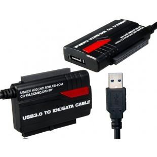 891U3 USB 3.0 до 2.5 `` / 3,5 `` IDE / SATA конвертер Кабель-адаптер поддерживает One Touch резервного копирования (Черный)