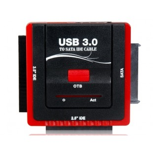 888U3IS USB 3.0 для 2,5 `` / 3.5 `` IDE / SATA конвертер Кабель-адаптер (черный + красный)