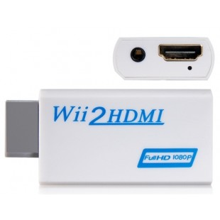 Wii к HDMI 1080P HD Converter (белый)