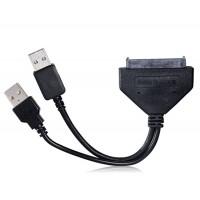 ВЕТ-US03B USB3.0 для SATA 22-контактный кабель-адаптер (черный)
