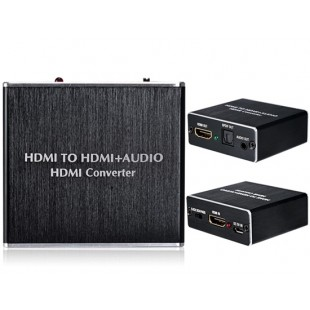 HDMI на HDMI + Audio HD Converter (черный)