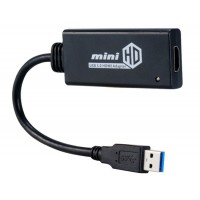С USB3.0 к видео HDMI адаптер конвертер (черный)