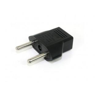 Квартира в Круглый Plug адаптер конвертер для Европы (черный)