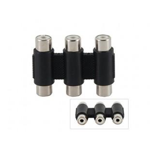 3-портовый RC-FFFF AV TV Аудио Video Splitter адаптер (черный)