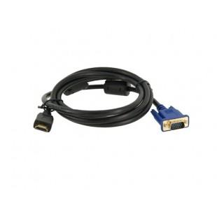 1.5м видео кабель из VGA в HDMI  для компьютеров (черный)