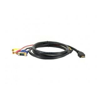 1,5 HDMI к 3RCA Расширение видео кабель для компьютеров (черный)