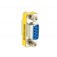 DB 9 контактный разъем для Connector Женский D-SUB адаптер конвертер (серебро)
