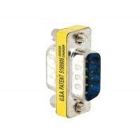 DB 9 контактный разъем для Connector Мужской D-SUB адаптер конвертер (серебро)