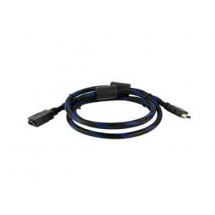 Стандартный 1,5 м Мужской HDMI к HDMI Женский цифровой аудио / видео кабель Версия 1.3 (черный + синий)