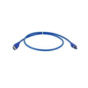 80см USB 3.0 мужчина к женщине Расширение дата кабель (синий)