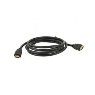 1,8 м Высокоскоростная стильный дизайн Позолоченные HDMI M / M Сигнальный кабель Версия 1.3 (черный)