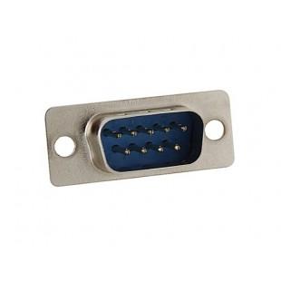 9 контактный последовательный порты Мужской Разъем Socket (серебро)