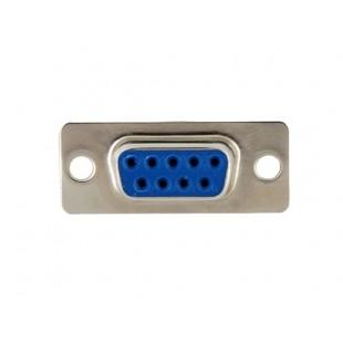 9 контактный последовательный порты Женский COM Разъем Socket (серебро)
