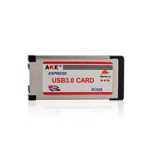 Express Card к USB 3.0 адаптер (серебро)