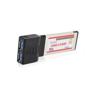 2-портовый USB 3.0 адаптер для ноутбука Экспресс карты (черный)