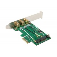 PCI-E для Mini PCI-E Riser Card адаптер (зеленый)