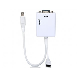 MHL для VGA адаптер конвертер с аудио выходом для Samsung Galaxy S2 i9100 i9108 Galaxy i9220 Примечание N7000