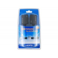 30 CAT-5e / 6 1.65Gbps HDMI Extender двойной кабель (черный)