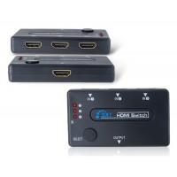 3-х полосной HDMI сплиттер с пультом дистанционного управления (черный)