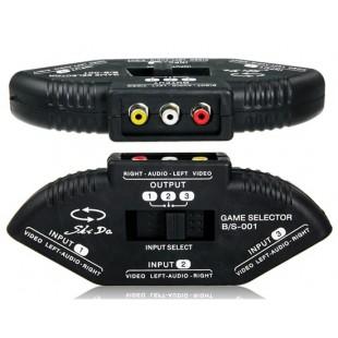 3 Вход 1 Выход AV аудио-видео сигнала Switcher для видеомагнитофона, VCD, DVD, TV & Game Console