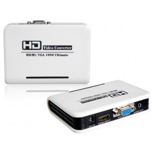 Компьютер PC ноутбук HDMI к VGA HD Video Converter адаптер Box 1080P