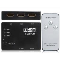 3: 1 HDMI 1.4 переключатель с ИК пульта дистанционного управления (черный)