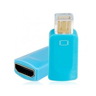 Mini DisplayPort мужчина к HDMI Женский адаптер (синий)