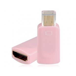Mini DisplayPort мужчина к HDMI Женский адаптер (розовый)