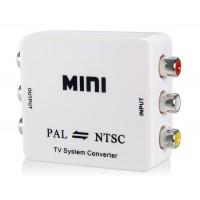 Мини PAL / NTSC Full HD 1080P видео конвертер Система ТВ преобразователь (белый)